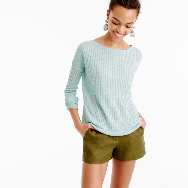 100 Cashmere Sweaters Womens Spring 2019 Female Loose Pullover Knitted Rib O Neck Long Sleeve Green