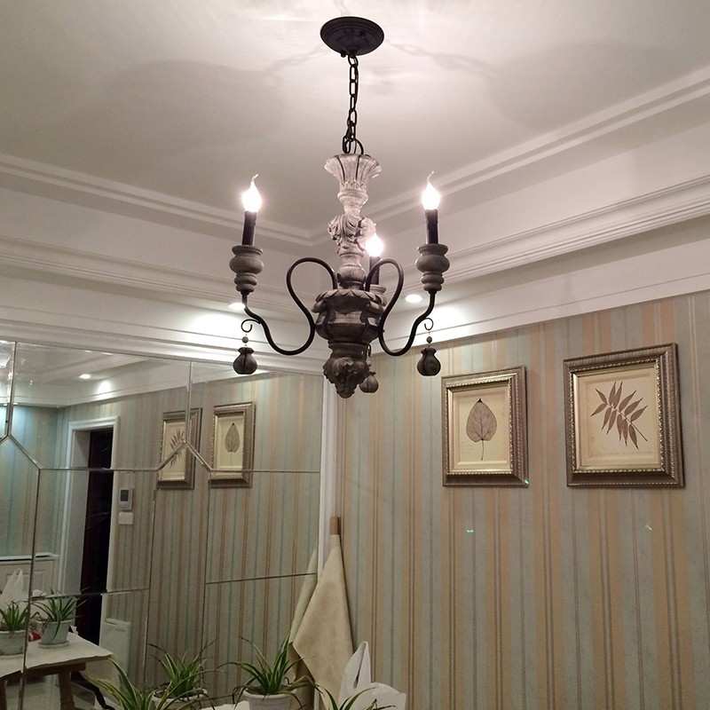 Modern Chandeliers Contemporary Dining Room: Iron Resin Chandelier Lighting Vintage Light Hotel Dining