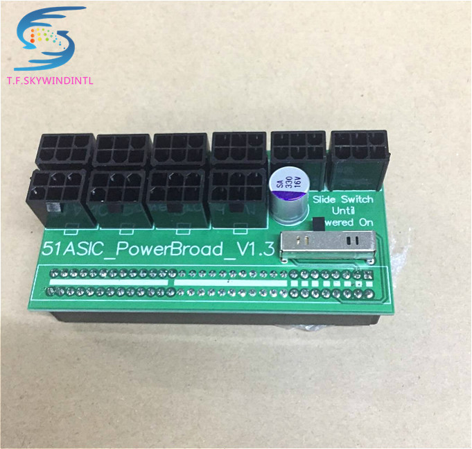 free ship ,10*6Pin Power Supply Adapter Board for DPS-800 DPS-1200FB PS-2751-5Q support 1600W Ethereum Mining,1200w 750w mining mining power combination for ps 2112 2ld ps 2112 2l 1100w with breakout board and 10pcs wire fully tested