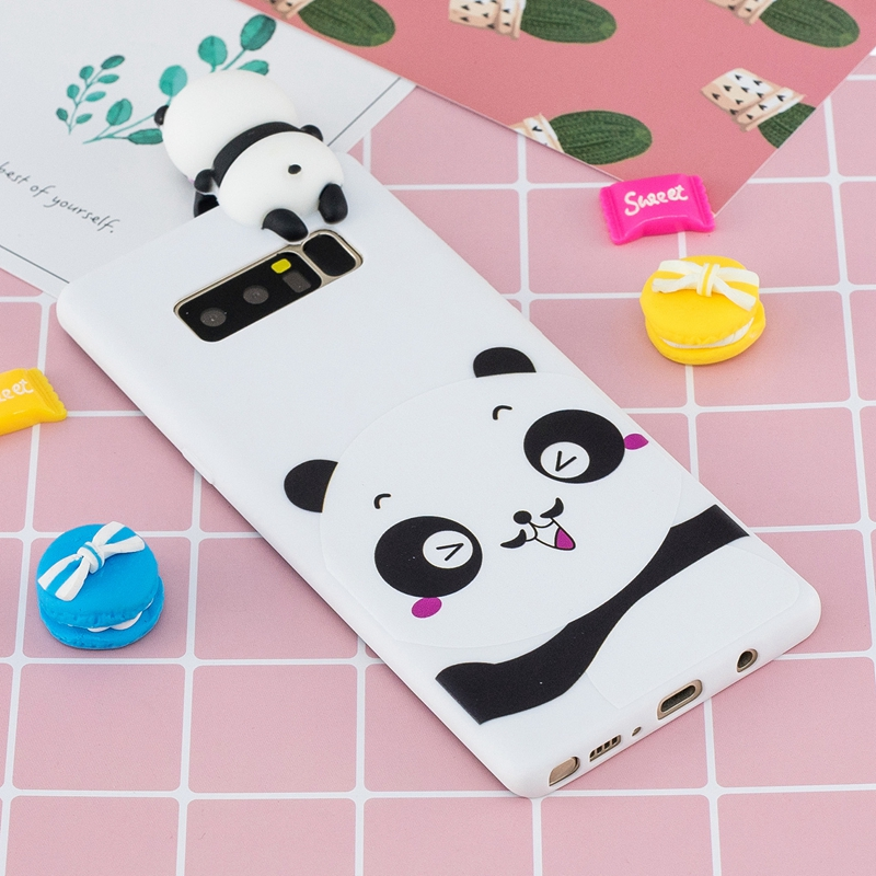 Note 8 Case For Coque Samsung Galaxy Note 8 Case Galaxy Note8 3D Cartoon Panda Fundas For Samsung Galaxy Note 8 Note8 Case Etui