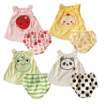 Baby clothes Sleeveless Cartoon Print Baby Rompers newborn baby girl clothes Jumpsuits Infant Fruit Costumes Summer Wear