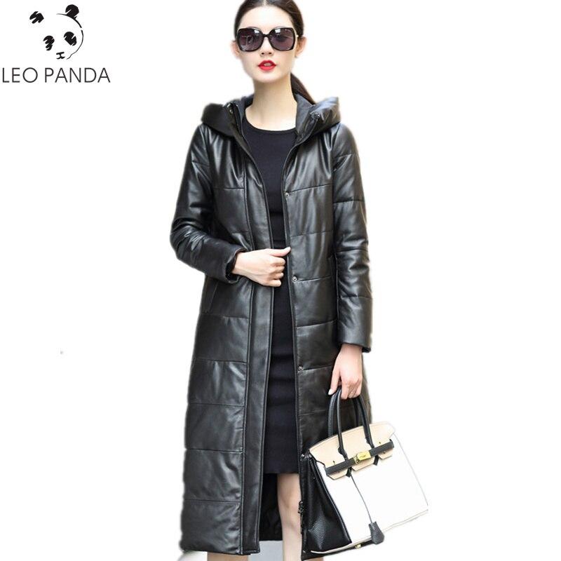 882053e4fe701 Bas Blanc Manteau Slim 4xl Long Femmes Vers Manteaux Noir De Véritable As  La D hiver ...