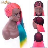 Синтетические волосы на кружеве человеческих волос парики Синтетические волосы на кружеве парик Малайзия парики с прямыми волосами Ombre роз