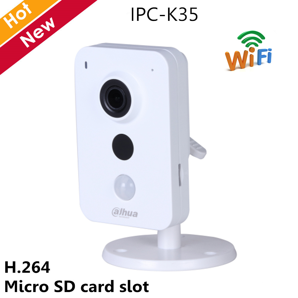 Dahua 3MP Wifi IP Camera IPC K35 Wifi wireless camera Support max 128G storage Easy4ip cloud H.264 IR Distance 10m Security cam - 1