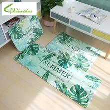 купить Kitchen Mat Cheaper Anti-slip Modern Rugs Living Room Balcony Bathroom Carpet Tropical Plants Flamingo Print Doormat Bath Mat по цене 415.12 рублей