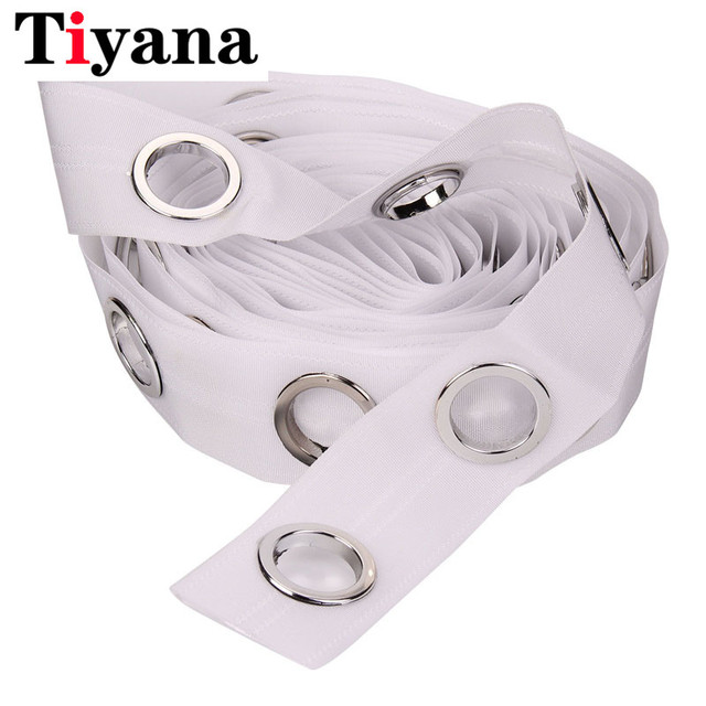 15M Eyelet Curtain Tape Curtain Heading Grommet Top Tape Header 5 rings/m Pencil Pleat Hook White Tape Curtain Accessories D15
