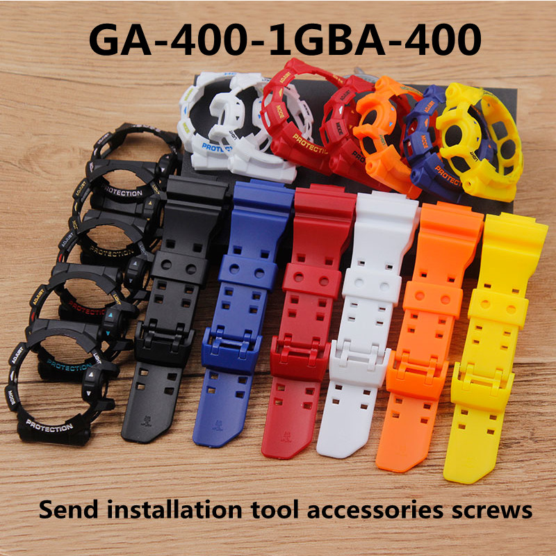 Watch Accessories Suitable For Casio GSHOCK GA-400-1GBA-400 Strap Case Resin Rubber Plastic Strap Case Men's Women's Watch Band