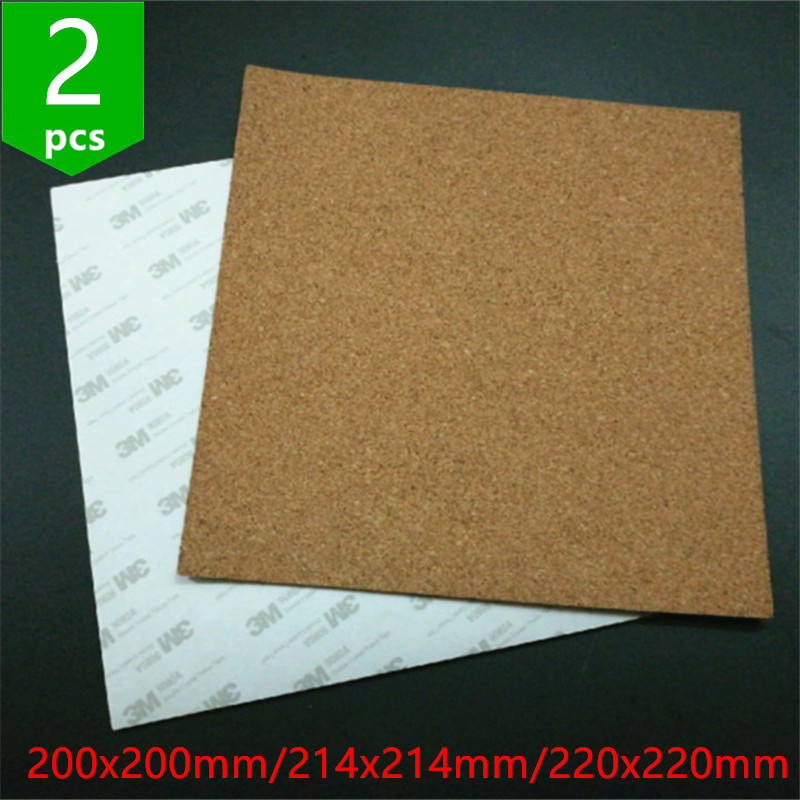 Computer & Office The Best 220mm X 3mm Round Hot Bed Plate Adhesive Cork Sheet Sticker Tape 3d Printer Accessories 3d Printer Parts & Accessories
