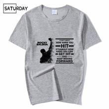 Mens Rocky Film ROCKY BALBOA T-shirts Unisex Summer Casual Grey Tee Shirt Boy Girl Harajuku Clothes Graphic Tees