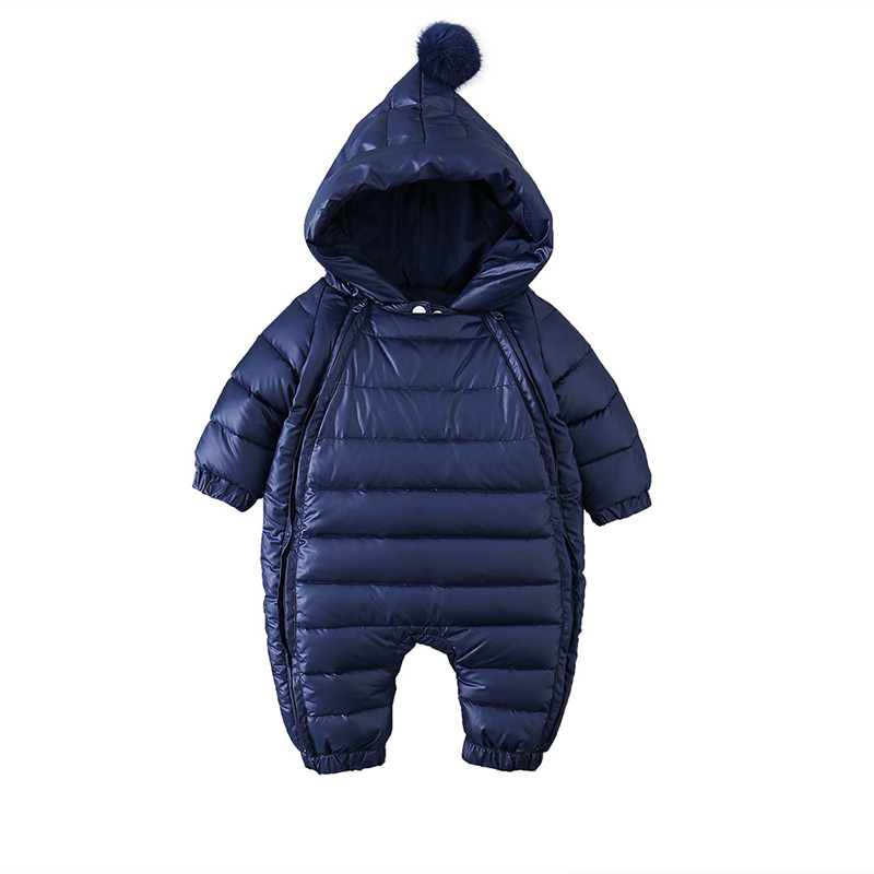 Fashion winter solid color down jacket long sleeve infant bodysuit MD150D033 bodysuit with long sleeve