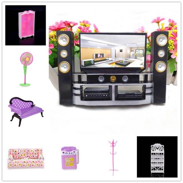 Tv En Audio Kast.Poppenhuis Hi Fi Tv Kast Audio Speler Bank Stoel Lounge Voor Pop