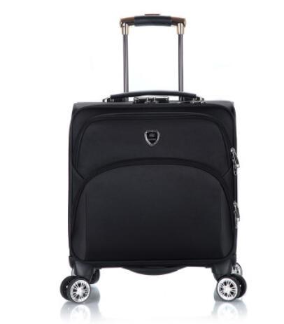 18 นิ้วผู้ชาย Spinner กระเป๋าเดินทางกระเป๋าเดินทาง Oxford Cabin Boarding กระเป๋าเดินทางกลิ้งกระเป๋าล้อเดินทาง Wheeled กระเป๋าเดินทาง-ใน กระเป๋าเดินทางแบบลาก จาก สัมภาระและกระเป๋า บน   1