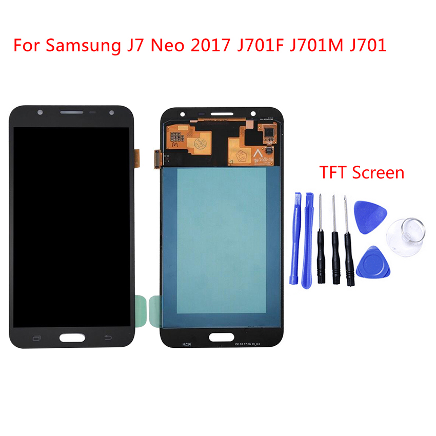 For Samsung Galaxy J7 Neo J701F J701M J701MT LCD Display Touch Screen Digitizer Assembly Replacement Can not Adjust BrightnessFor Samsung Galaxy J7 Neo J701F J701M J701MT LCD Display Touch Screen Digitizer Assembly Replacement Can not Adjust Brightness