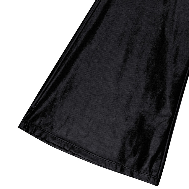 iEFiEL Adult Mens Fashion Club Wear Shiny Metallic Disco Pants with Bell Bottom Flared Long Pants Dude Costume Parties Trousers 5