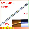 6PCS LED Bar Light 5050  36LED/0.5M SMD Cabinet LED Rigid Strip DC 12V Showcase LED Hard Strip  Free shipping
