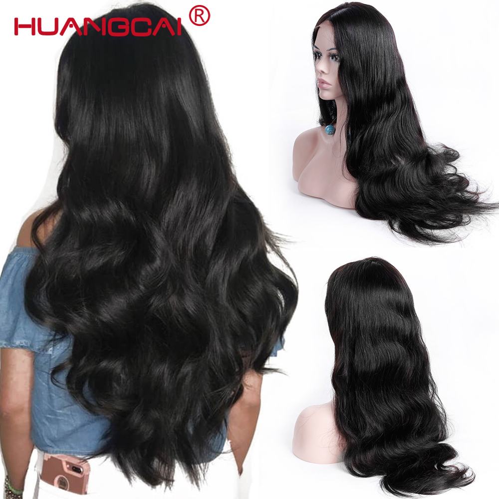 13 * 4 Lace Front Human Hair Parykker For Women Brasilian Body Wave - Menneskelig hår (for svart)