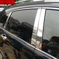 Car Styling Stainless Steel Window Trims Center Pillars B + C Pillar Covers 6Pcs Fit For Honda CRV CR-V 2007 2008 2009 2010 2011