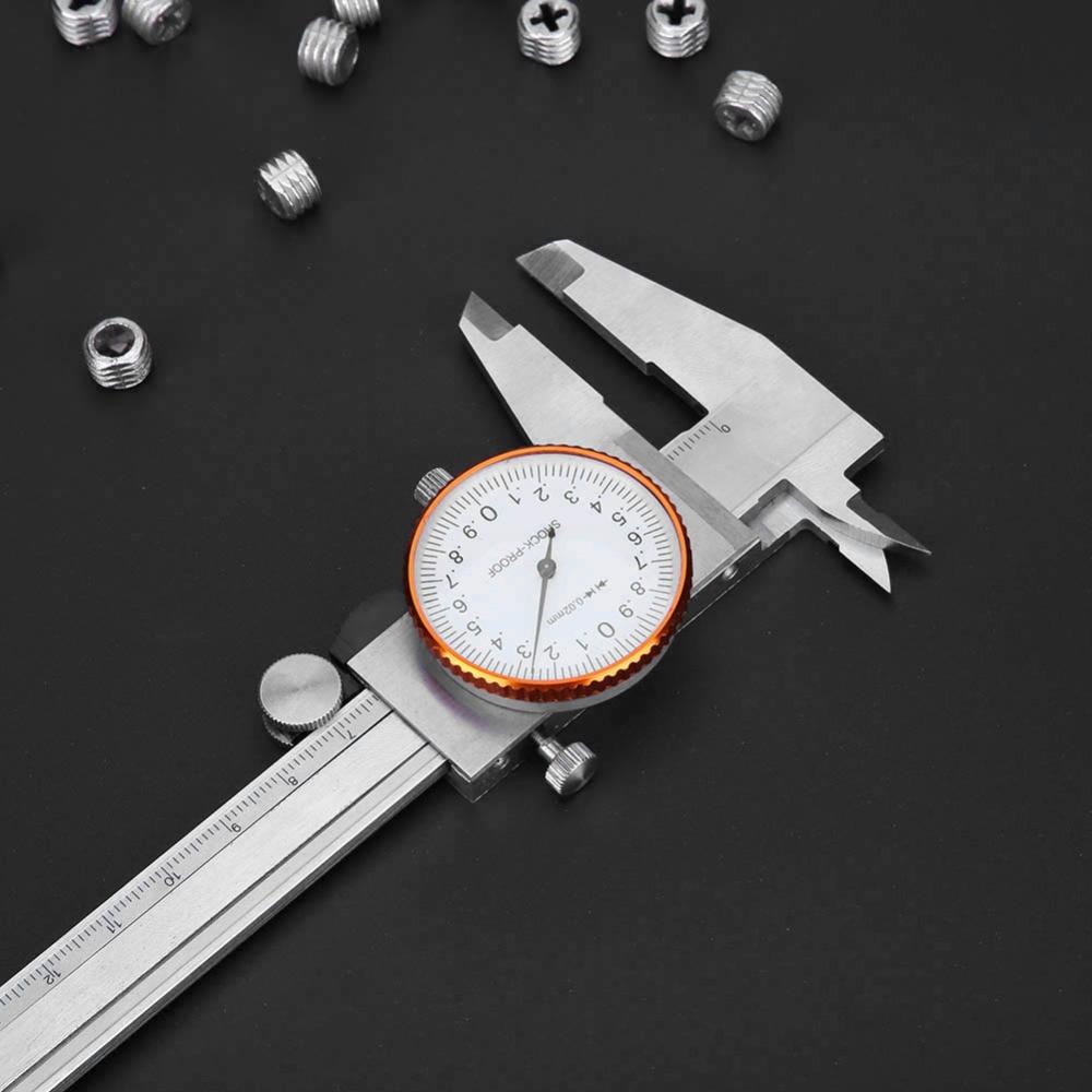 1PC Vernier Caliper Stainless Steel Analog Dial Caliper 0-150mm Metric Gauge Measuring Tools Shock-proof Vernier Caliper стоимость