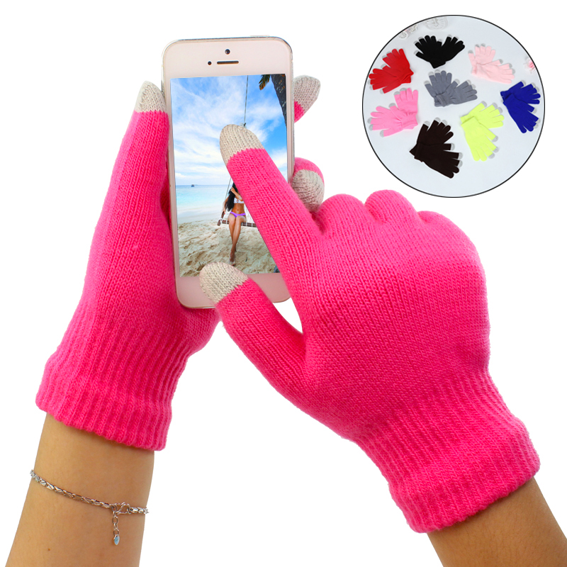 LNRRABC High Quality Winter Warm Glove Monochrome Ladies Fashion Touch Screen Gloves