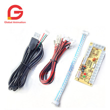 цены на 12 Set / Lot Zero Delay Arcade USB Encoder PC to Joystick Push Buttons Wire Cables For MAME Fight Stick Control Module Board  в интернет-магазинах
