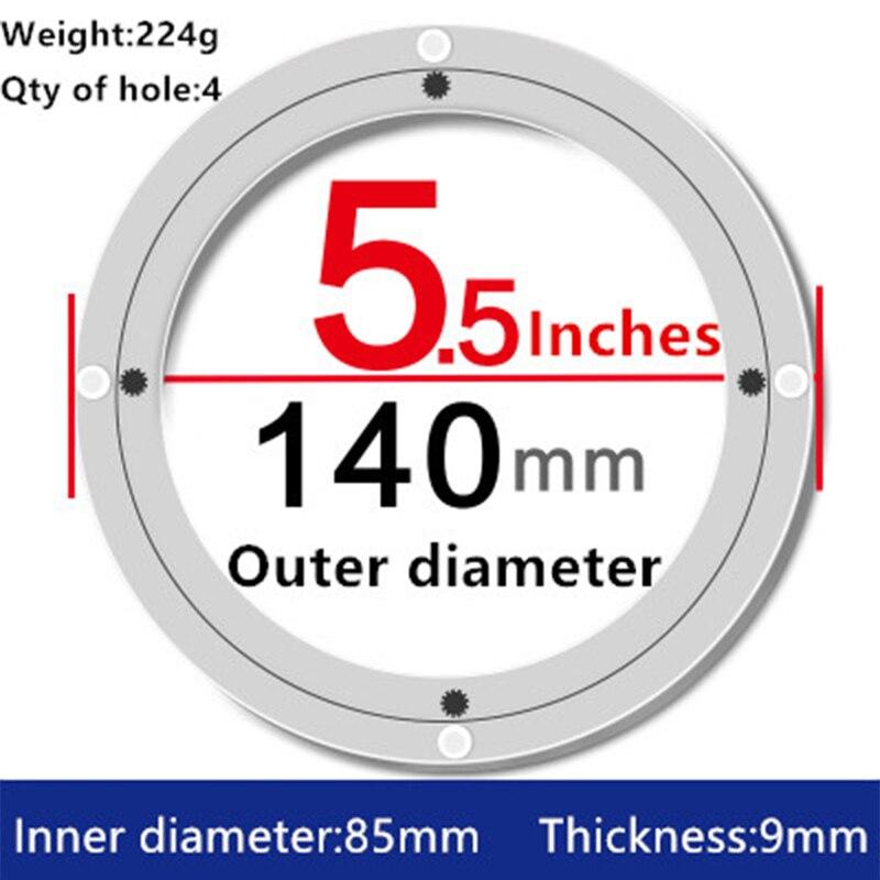 Swivel Platten Hardware Frank 2 Stücke 5,5 Zoll 14 Cm Kleine Lazy Susan Drehteller Esstisch Schwenkplatte Von Aluminium-legierung Material Für Küche Möbel
