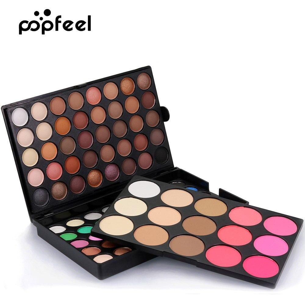 Popfeel 1pc 95 Color Matte/ Shimmer Eyeshadow Palette + Blush + Highlighter Professional Nude , Eye Shadow Makeup Kit A335 магнитный браслет colantotte magtitan color palette