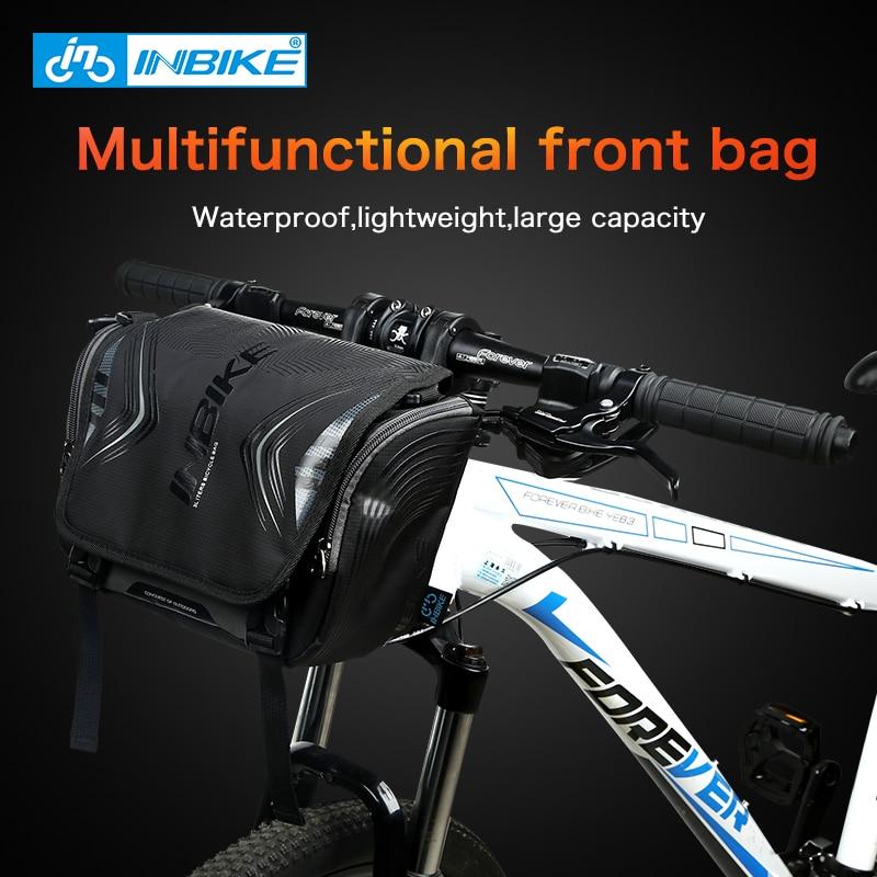 Bicycle Bag Large Handlebar Front Tube Pocket Bike Cycling Waterproof H