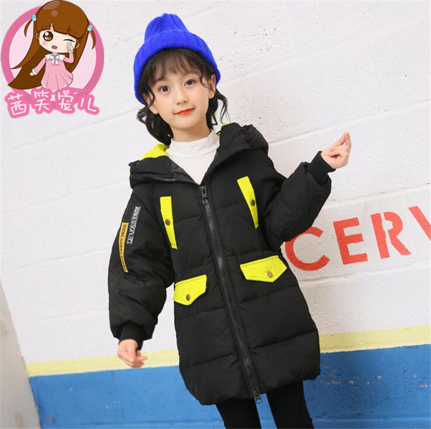 4color new Hooded Girls Winter Coats And Jackets Outwear Warm Long Down Jacket Kids Girls Clothes Children  Baby Girls Clothing girl coat winter duck down and jackets kids outwear warm jacket girls clothes parkas children baby girls clothing with hooded