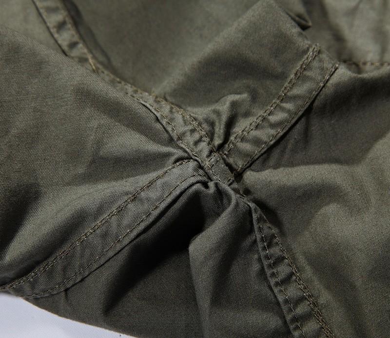 Casual Men Short Sleeves Loose Military Breathable Shirt
