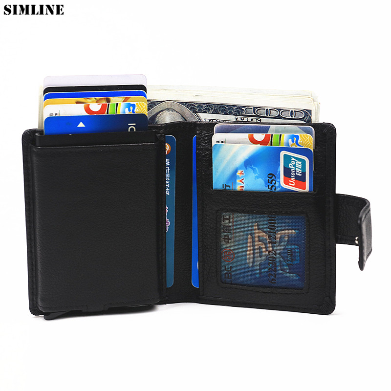 Mens Blue 100/% Genuine Soft Leather Wallet Card Holder with Zip RFID Protection