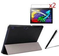 Ultra Slim Magnetic Folio Stand Leather Case Smart Cover 2x Films Stylus For Lenovo Tab 2