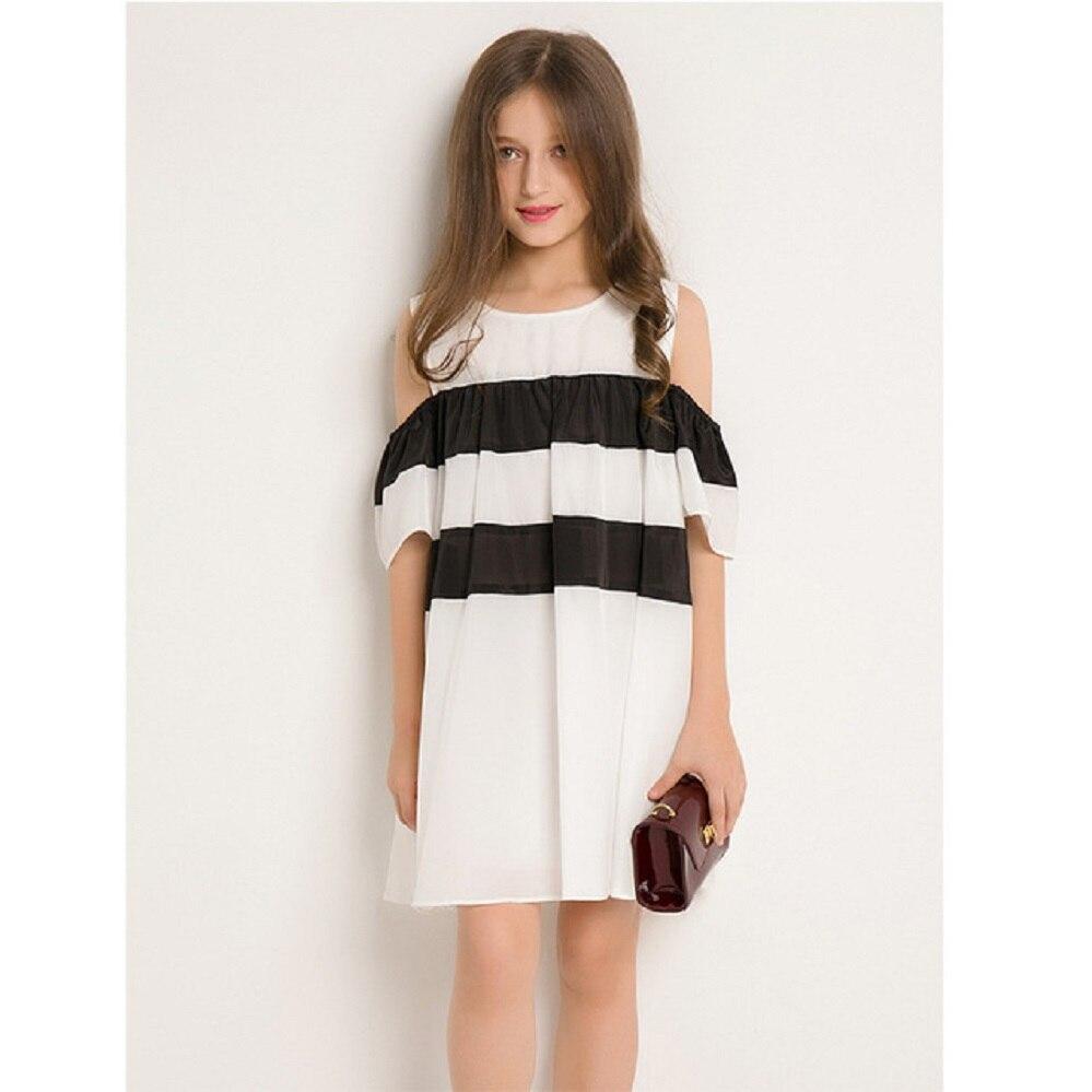 Tween Girl Fashion Black: Girls Clothes 2019 Summer Dress Off Shoulder Dresses Kids