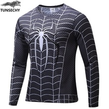 new avengers spiderman batman superman iron man men long sleeve T shirt avengers alliance 2 superhero