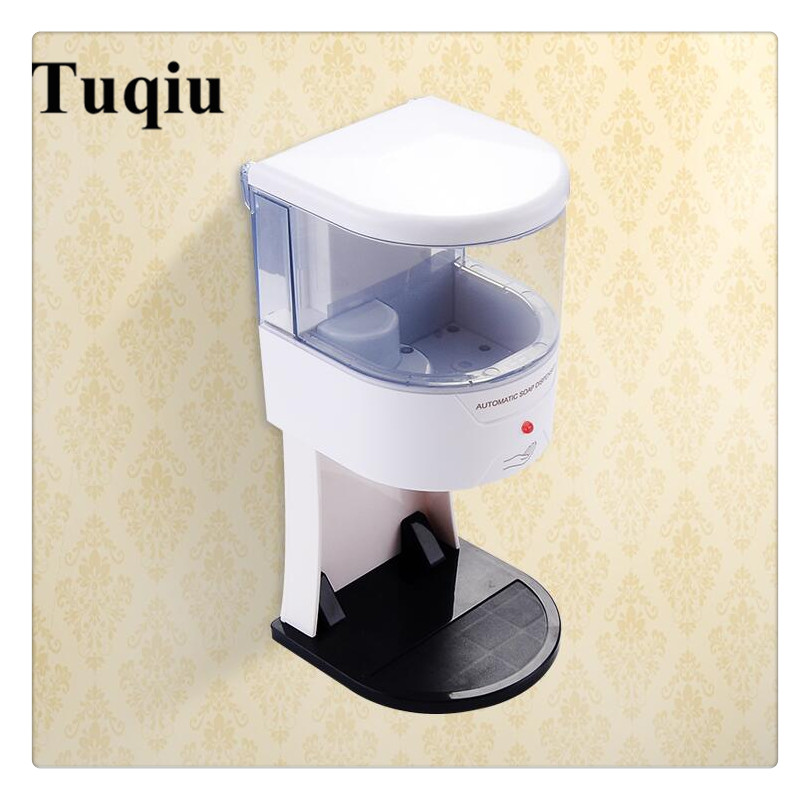 fashion Bathroom automatic Soap Dispenser Shower Liquid Shampoo 700ml Wall Mounted Bathroom Shower Soap Dispenser 700ml wall mounted liquid automatic soap dispenser abs bathroom accessories sensor touchless sanitizer soap dispenser forkitchen