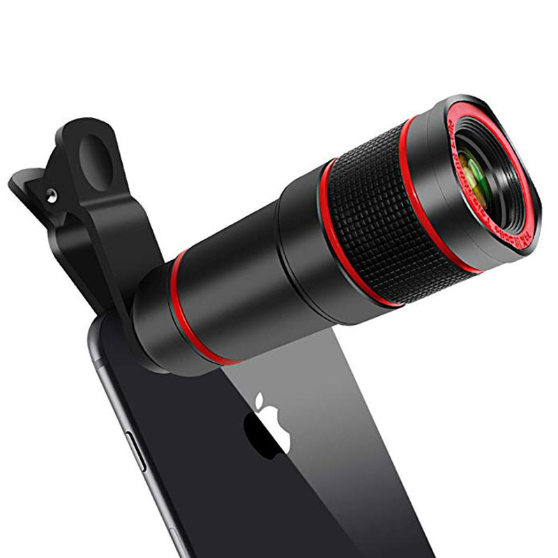 Mobile Phone Camera Lens 14X Zoom 4K HD Telephoto Phone Lens Monocular Telescope Camera With Universal Clip for All Smartphone-in Monocular/Binoculars from Sports & Entertainment