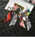 Feather Jungle Fashion Style New Arrival Lady Silk Twilly Bags Scarf Girl's Accessory Small Ribbon Hair Band Bandeaus E1