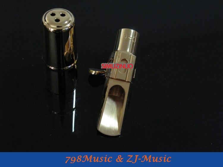 Modèle de C-6-embout de Saxophone Soprano métal professionnel plaqué or