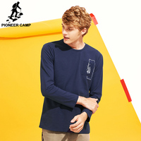 Pioneer Camp New Style Long Sleeve T Shirt Men Brand Clothing Casual Autumn Spring T Shirt
