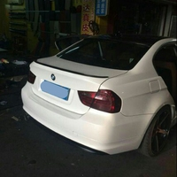 MONTFORD For BMW E90 320i 320li 325li 328i Spoiler 2005 2011 Car ABS Plastic Unpainted Primer Rear Trunk Boot Wing Lip Spoiler