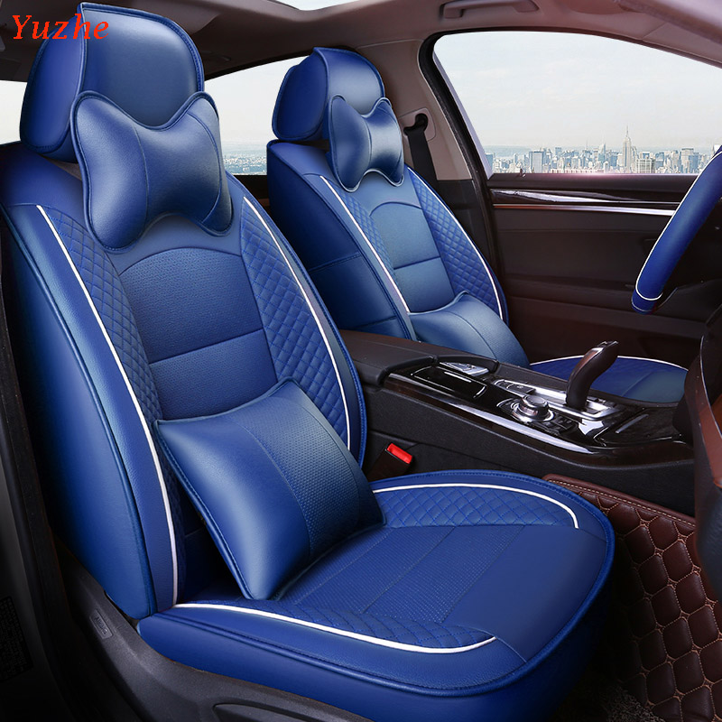 Yuzhe Auto Leather car seat covers For Mitsubishi Lancer Outlander Pajero Eclipse Zinger CROWN automobiles car accessories