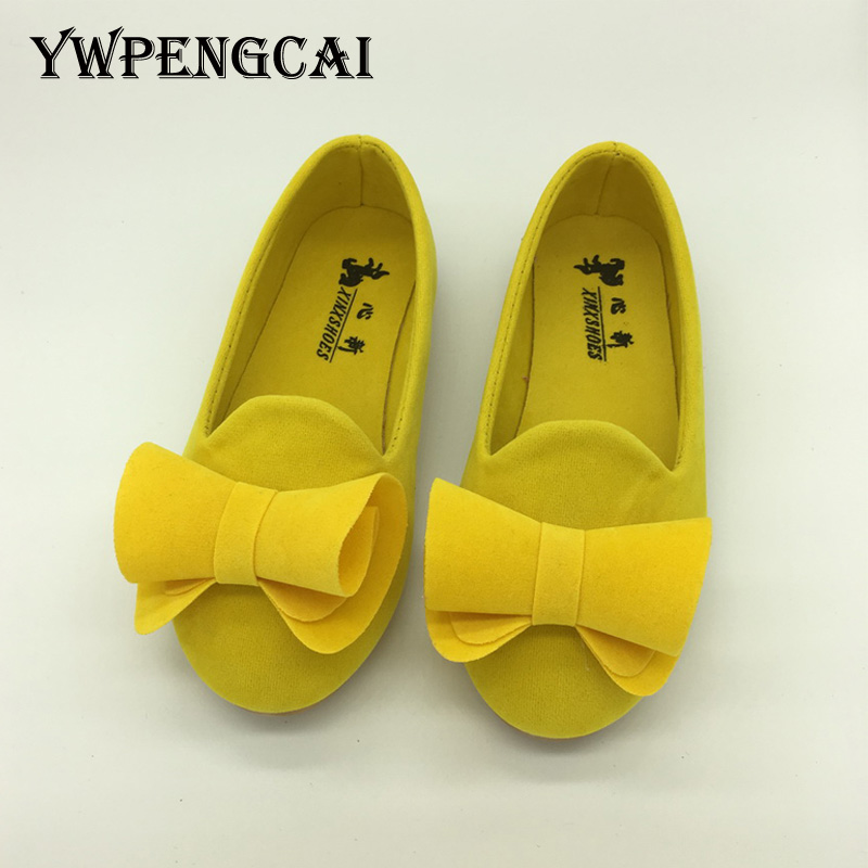 Size 21-36 Toddler Girl Shoes Spring Autumn Children Flats Flowers Ballet Shoes Slip-on Girls Shoes Yellow, Green, Rose Red