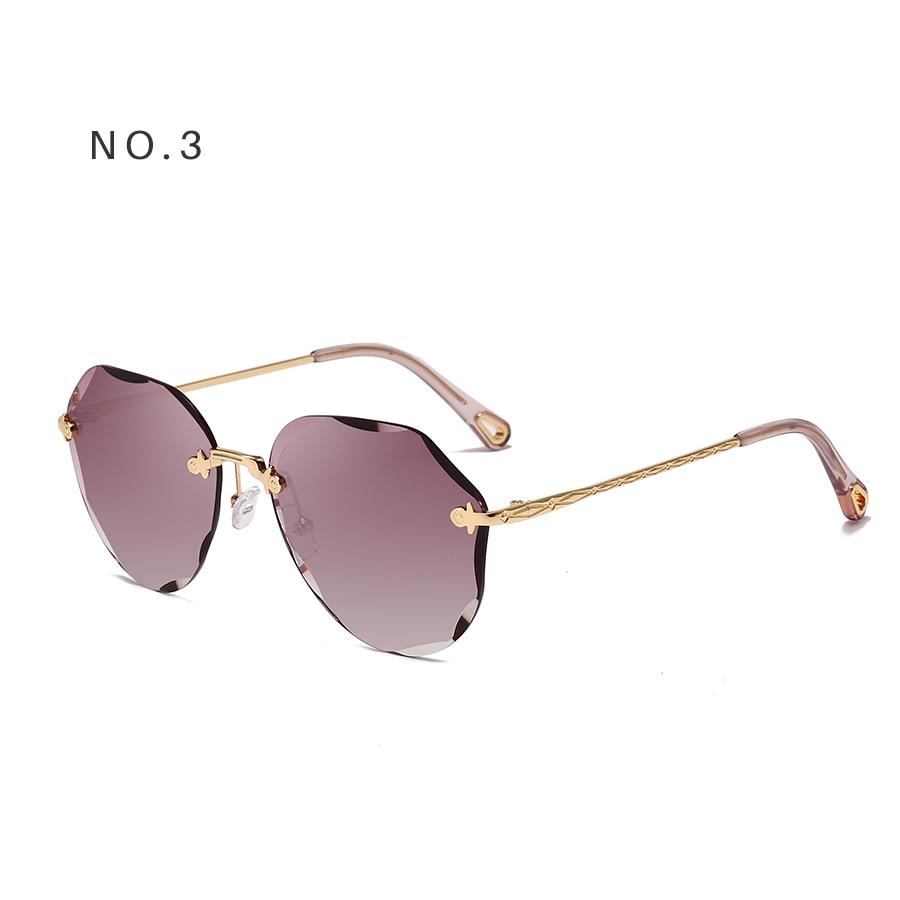 AEVOGUE Sunglasses For Women ladies Rimless Diamond cutting Lens Brand Designer Ocean Shades Vintage Sun Glasses AE0637 11