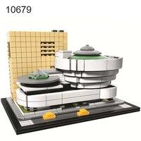 744Pcs Landmark Building Solomon R Guggenheim Museum Model Building Blocks Kids DIY Bricks Educational Children Toy