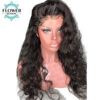 Flowerseason事前摘み取ら波状ブラジルフルレース人間の髪の毛のかつら髪グルーレスレースかつらレミー毛130%密度