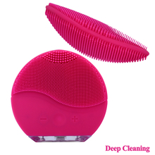 High Quality 3 in 1 Set Silicone Facial Cleansing Brush Mini Face Cleaner Silicone Deep Pore Cleaning Waterproof Skin Massage