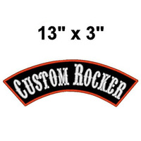 1 DIY Custom Embroidered Rocker Name Patch Motorcycle Biker Back Tag 13 Badge Iron
