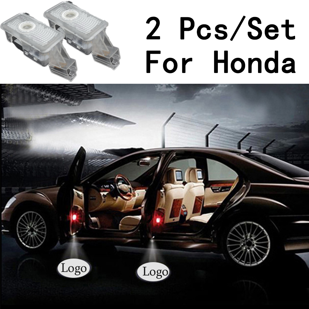 LED Courtesy With Logo Only For Honda/Acura/MDX/ZDX/TL/RLX 2Pcs/Set Ghost Shadow Projetor 3W Lens Include