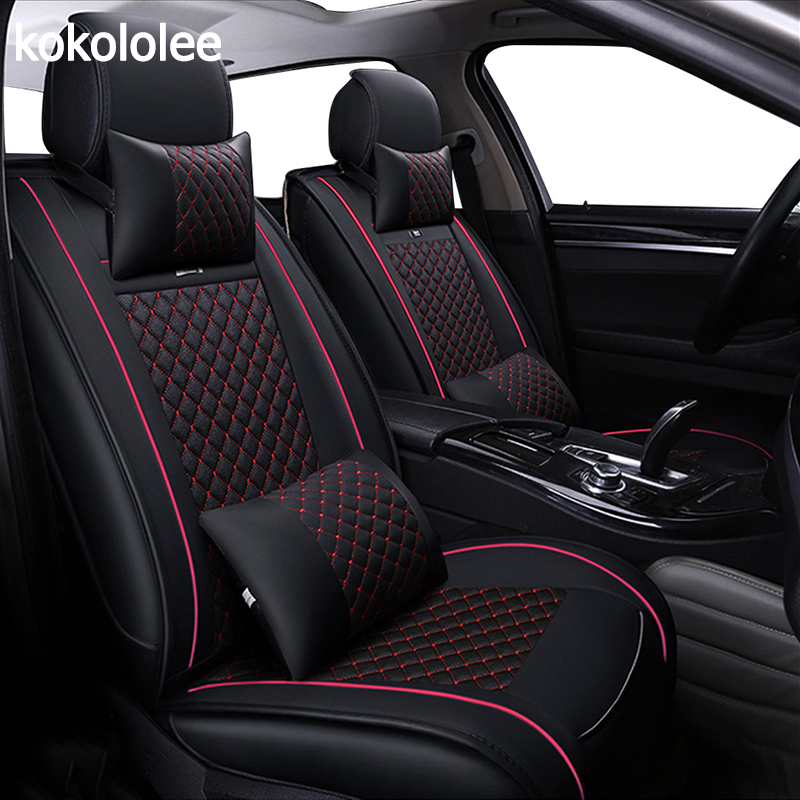 2 BLACK RED PATTERN FRONT CAR SEAT COVERS PROTECTORS FOR FORD KA