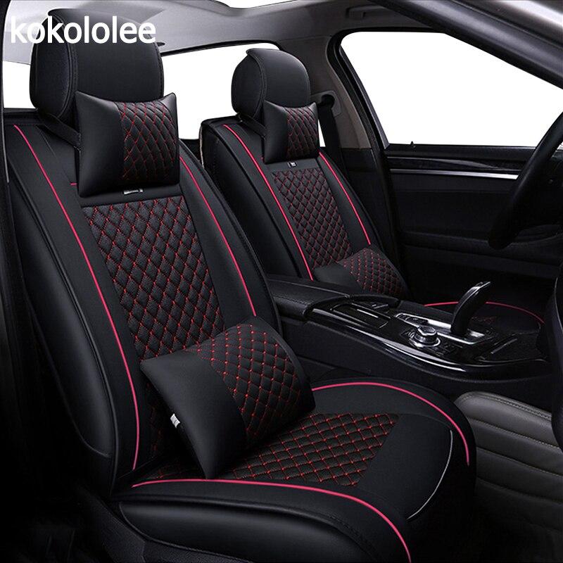 KOKOLOLEE siège de voiture couvre set pour lada granta renault logan peugeot 206 geely emgrand ec7 ssangyong kyron voiture sièges protecteur