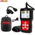 Universal OBD2 Scanner Caminhão Do Carro 2 em 1 Ancel HD510 para Multi Marcas de Caminhão Ferramenta de Diagnóstico Auto Scanner com Bateria Monitor de